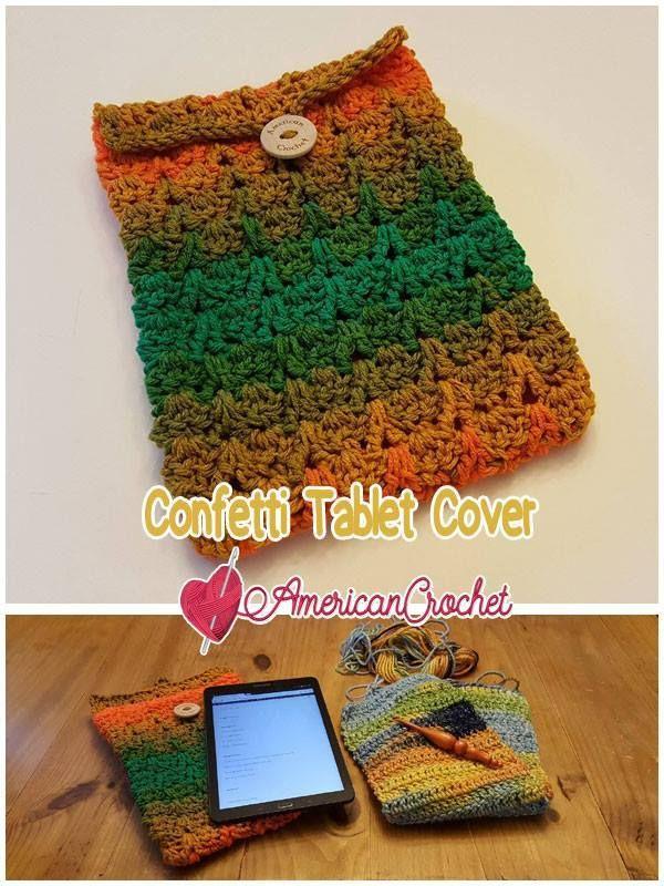 Confetti Tablet Cover Free Crochet Pattern American Crochet