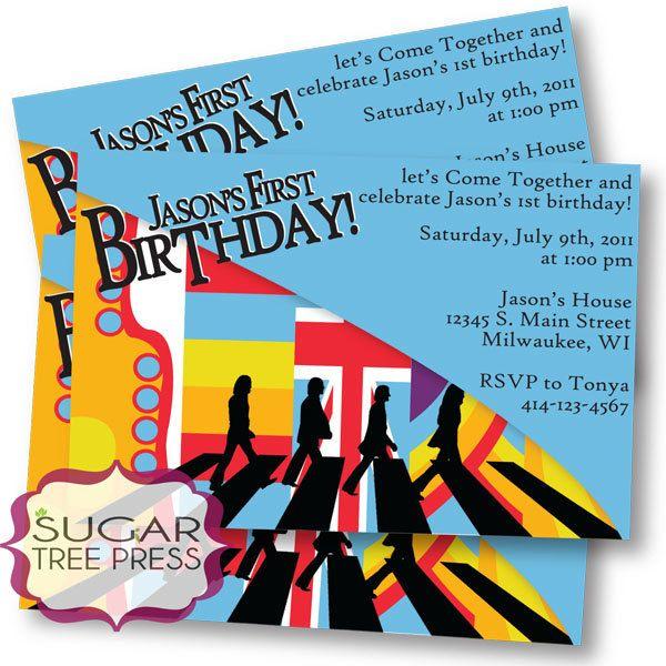 Beatles Party Invite Parrtay Beatles Birthday Party Birthday