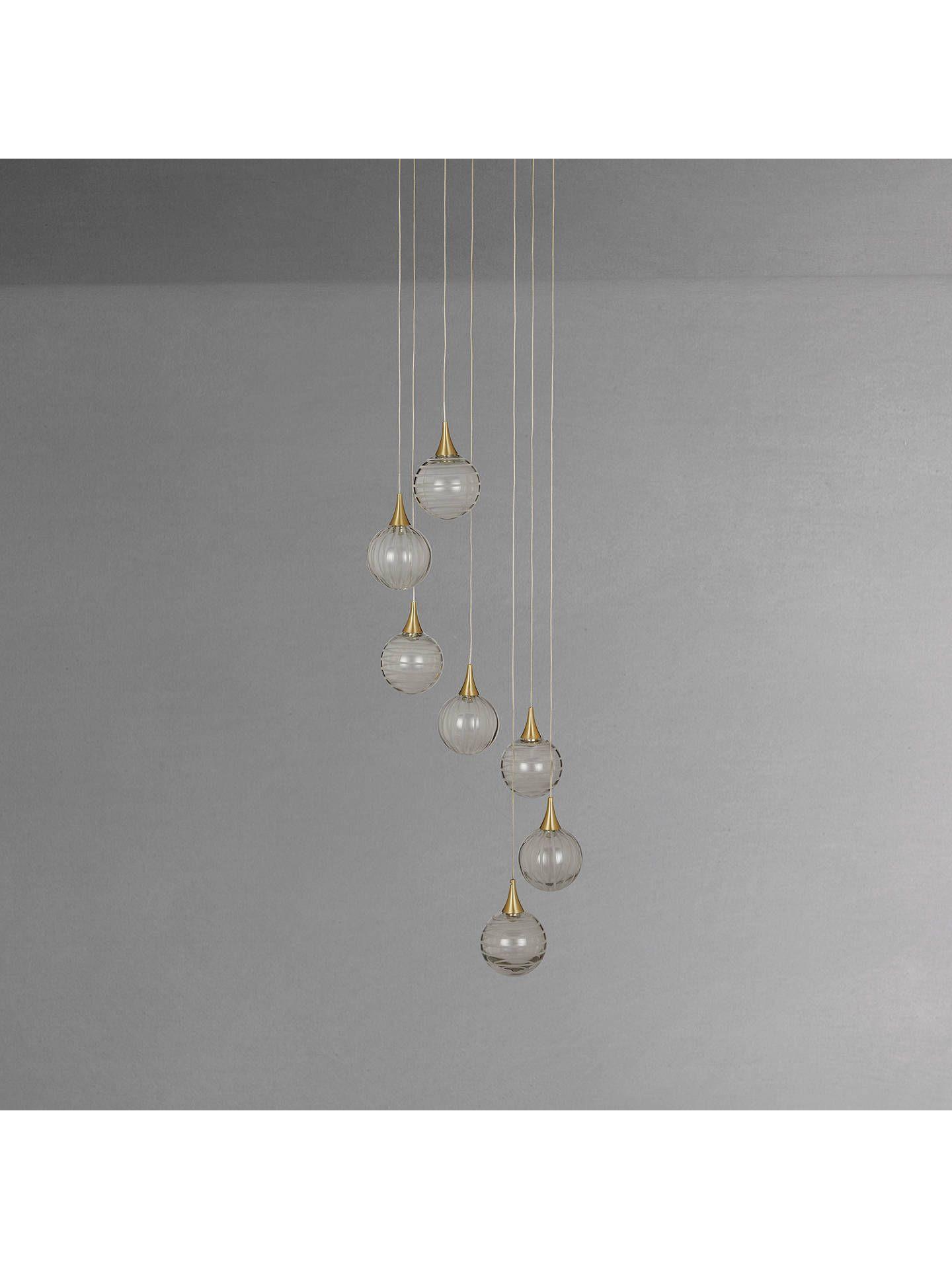0c3b65326a31 BuyJohn Lewis & Partners Marlo 7 Pendant LED Cluster Ceiling Light, Gold  Online at johnlewis.com