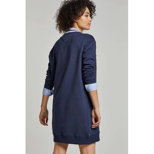 prijs verlaagd info voor aliexpress Tommy Jeans sweatjurk met logo donkerblauw/wit   Products in ...