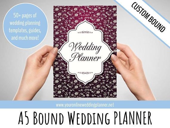 Ultimate Custom Wedding Planner Book Organizer A5 Simple