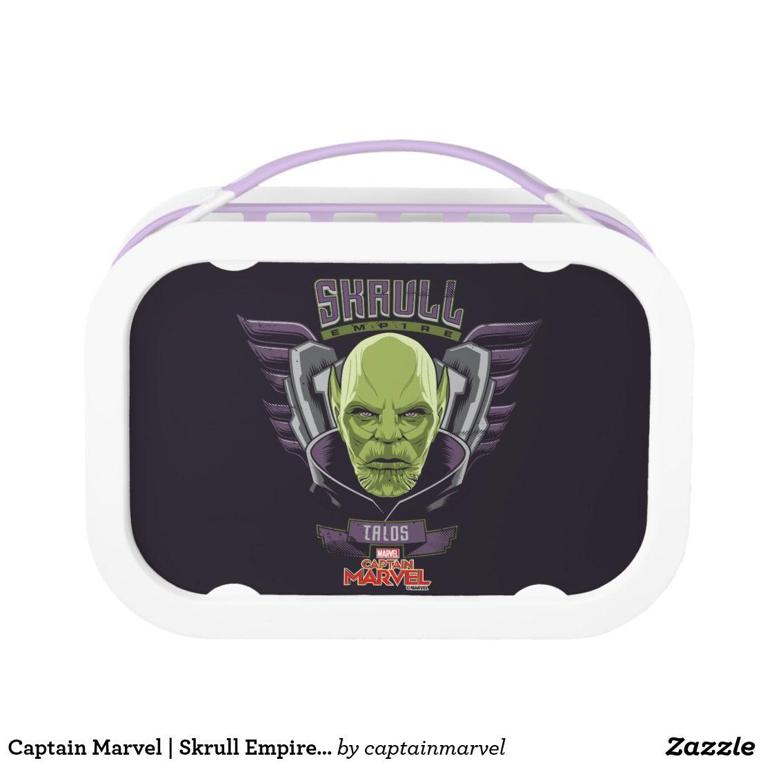 Captain Marvel Skrull Empire Talos Graphic Lunch Box Zazzlecom