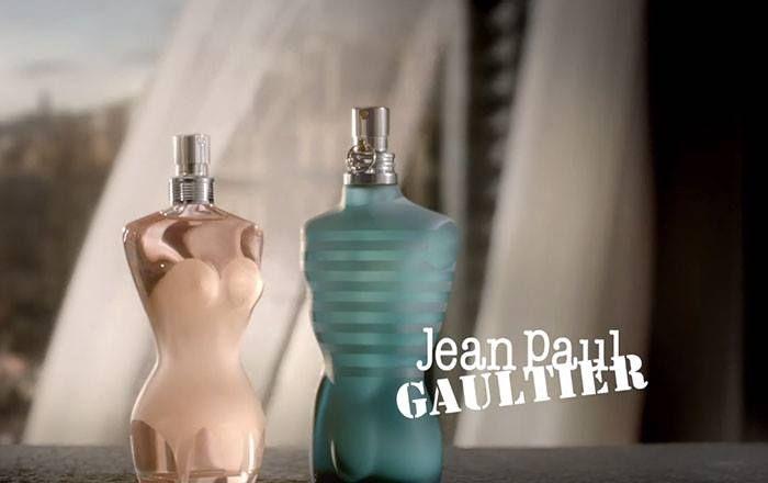 """Novo perfume da Jean Paul Gaultier para homem """"Le Male"""" e para senhora """"Classique"""""""