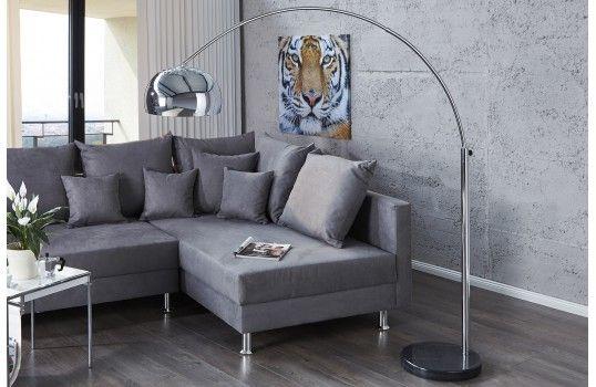 bigarc lampadaire arc chrome