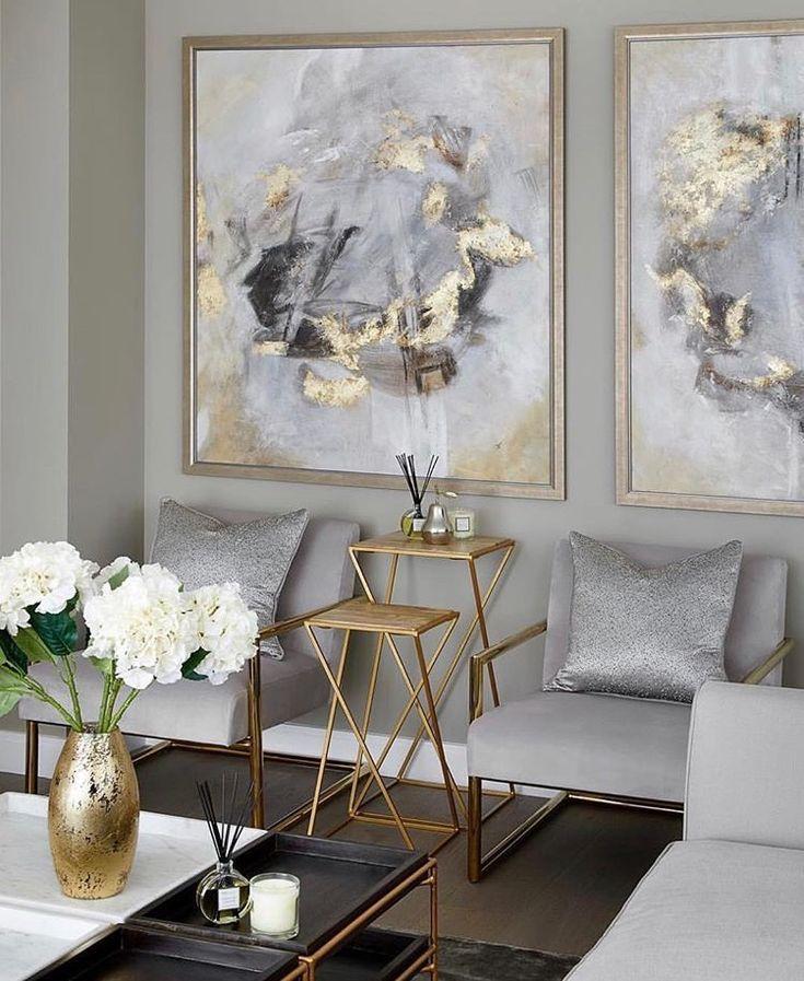 Schöne Kunstliebe auch die Goldakzente! #wohnzimmerideen