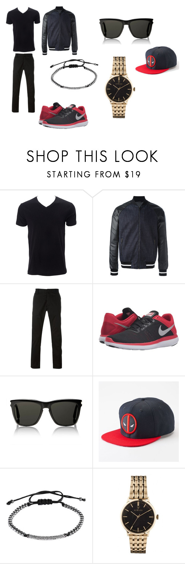 """""""Tenage Boy outfit"""" by starwarsqueen on Polyvore featuring Simplex Apparel, Emporio Armani, Armani Jeans, NIKE, Yves Saint Laurent, Marvel, men's fashion and menswear"""