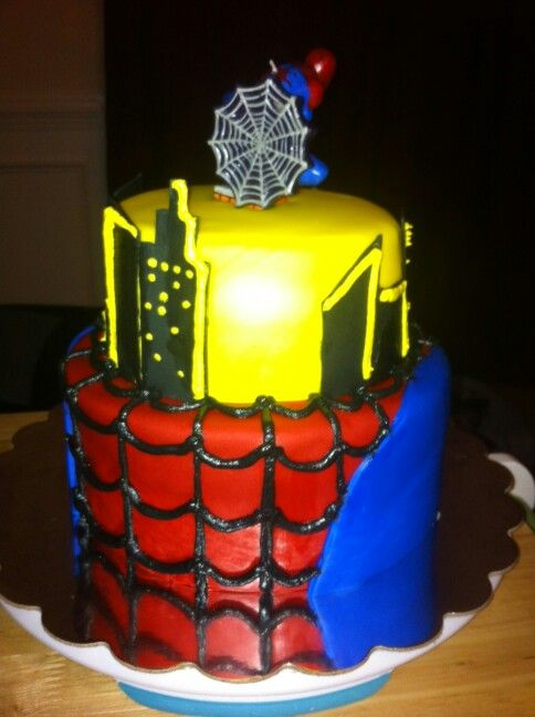 Cakes By Megan Raleigh NC Dmbmeganccaolcom 2tier Spiderman