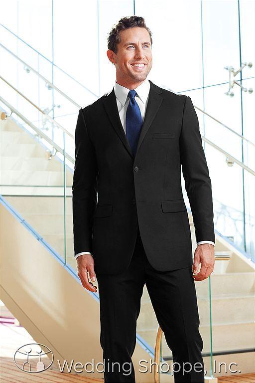 Jim\'s Formal Wear Men\'s Wedding Suits Black Two Button Suit / N49 ...