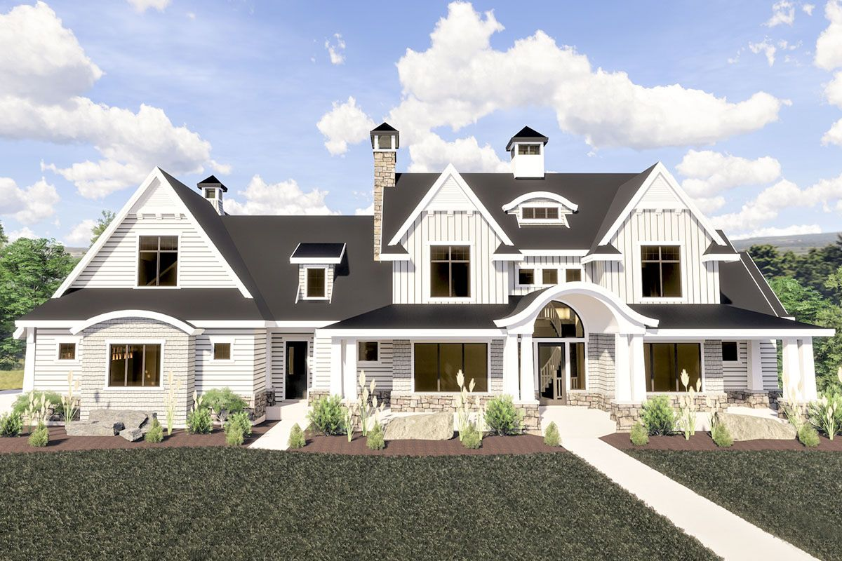 Plan 290085IY: Modern Farmhouse With Dramatic View