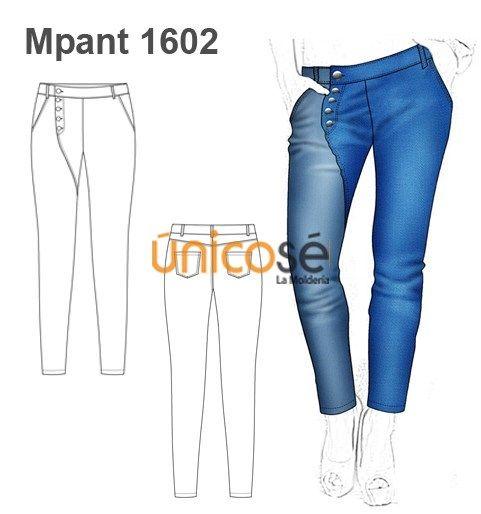 Pantalon Jeans Botones Mujer Moldes De Pantalones Pantalones Jeans Pantalones