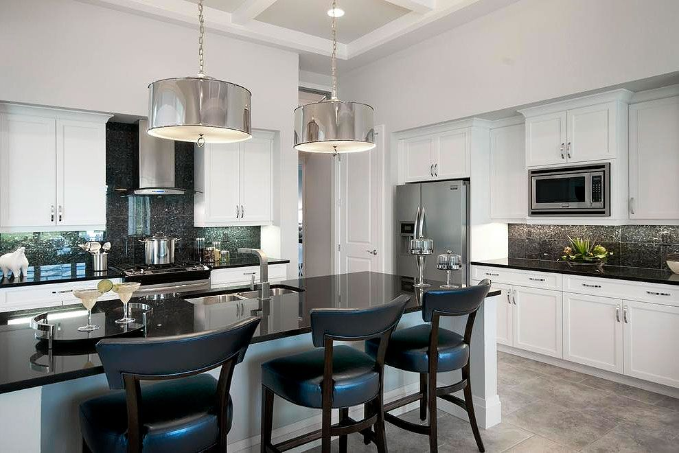 36 fabulous black granite countertops design ideas in 2020 contemporary kitchen white on kitchen decor black countertop id=54492