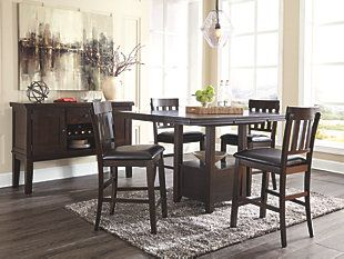 Haddigan Counter Height Dining Room Extension Table images