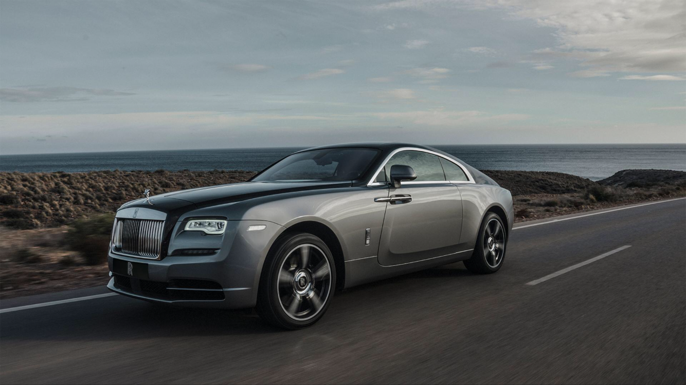 Super fast and super serious rolls Royce wraith at around £500,000