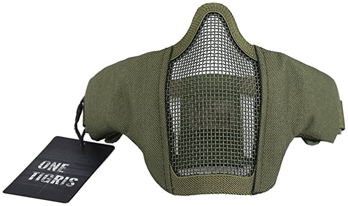 """6"""" Foldable Half Face Mesh Mask Military Style"""