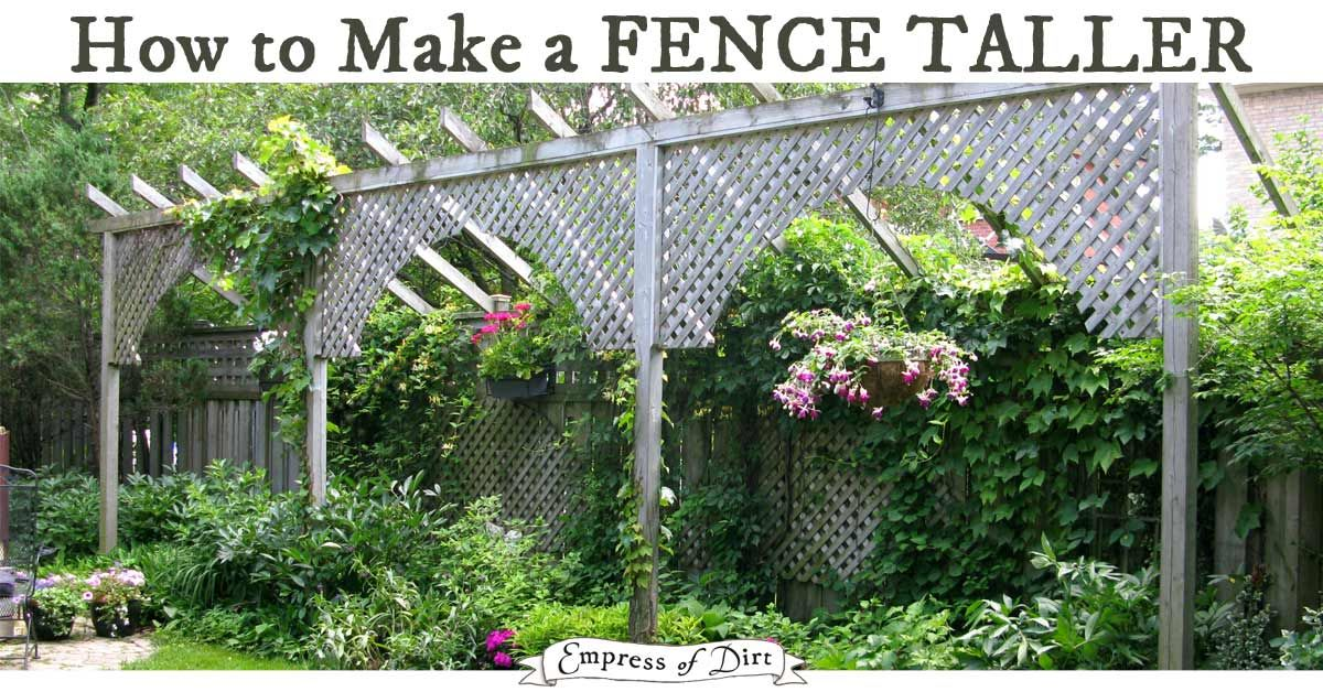 privacy fence ideas creative ways to use fences and screens to make your backyard private also ways to make an existing fence taller. & How To Make Your Garden More Private. Beautifully Landscaped Home ...