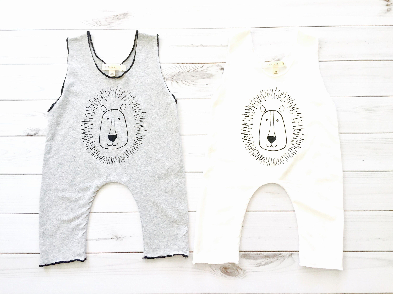 Free Shipping Organic baby romper organic shower t lion