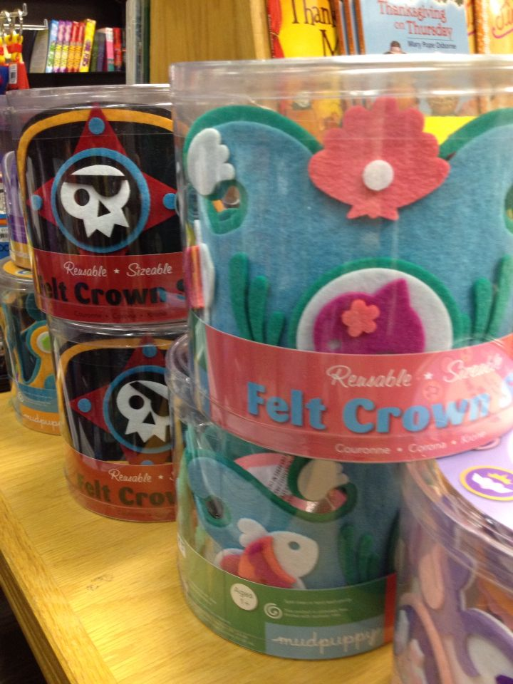 Playful, creative and unique--give these crowns to your favorite princess or pirate.