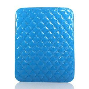 ZuGadgets Blue / Plaid Leather Case / Cover / Sleeves for iPad 3 / iPad 2 / The New iPad + Free Screen Protector Film (7332-74)