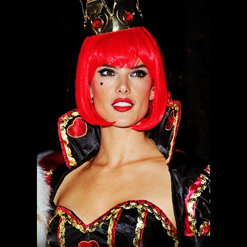 15 Celebs Who Do Halloween Right #refinery29 http://www.refinery29.com/best-fashion-people-halloween-costumes#slide3 Alessandra Ambrosio's Queen of Hearts costume from 2013: Actually not that much of a stretch.