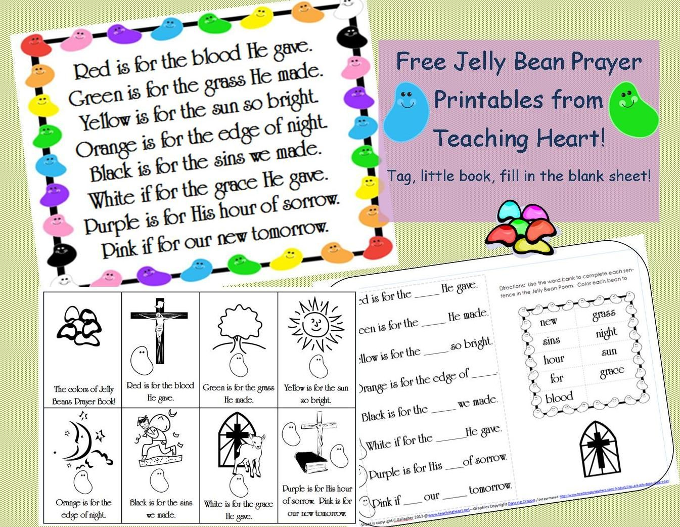 Free Jelly Bean Prayer Printables Teaching Heart
