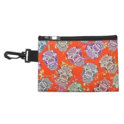 Trendy Ornate Sugar Skulls Graphic Accessories Bag