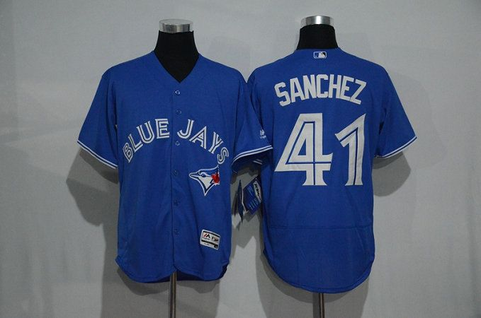 on sale 7dd23 ca4c7 Toronto Blue Jays Jerseys Mens #41 Aaron Sanchez Blue ...