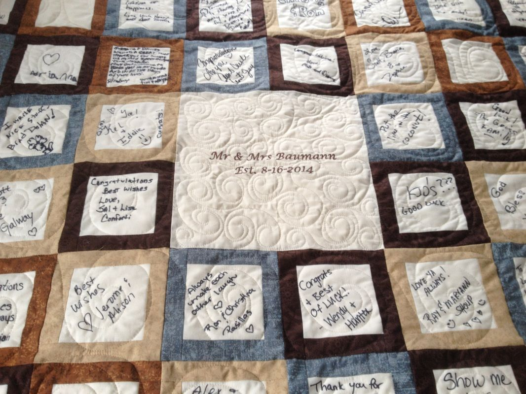 A guest book quilt is a wonderful way to keep memories of who was ... : wedding signature quilt - Adamdwight.com