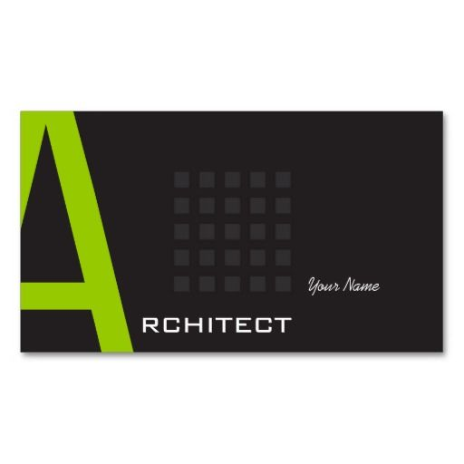 Architect Business Card Architects Business Cards Business Card
