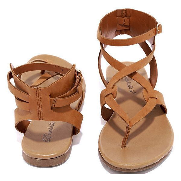 a21d77c2cc41de Boho Babe Tan Thong Sandals ( 19) ❤ liked on Polyvore featuring shoes