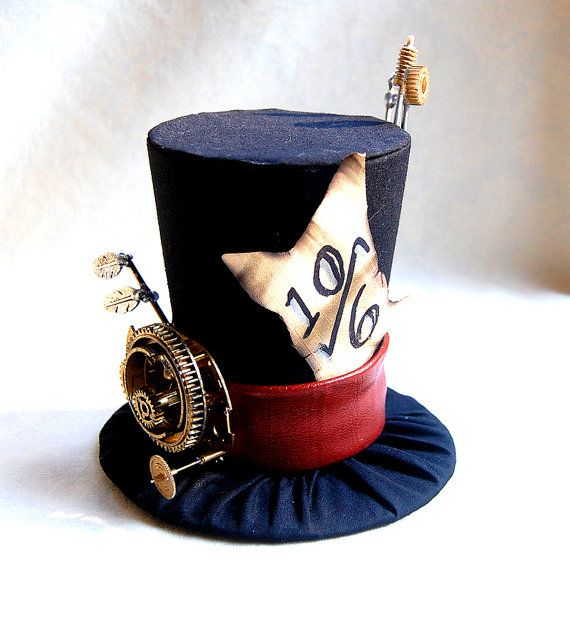 Tiny Top Hat Steam Punk Mad Hatter  Alice in wonderland