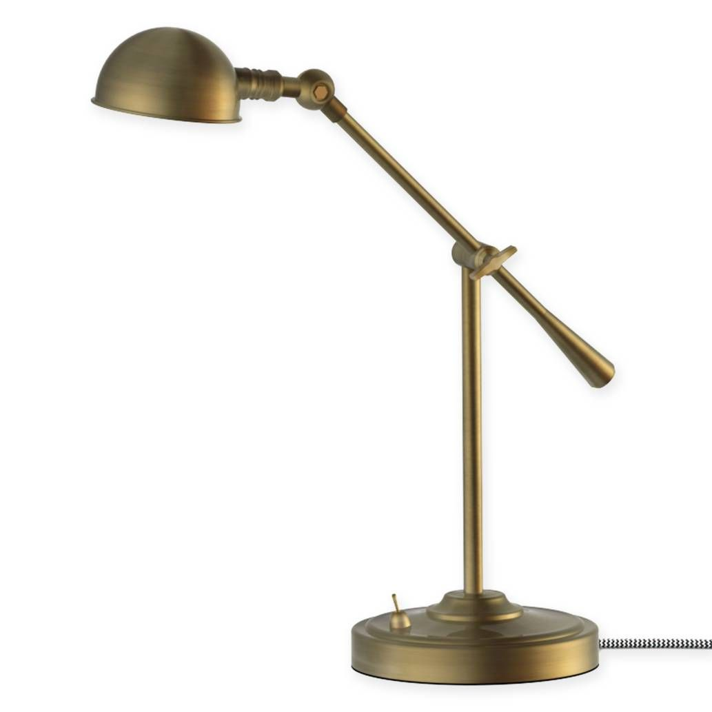 product image for LED Adjustable Pharmacy Table Lamp in Antique Brass