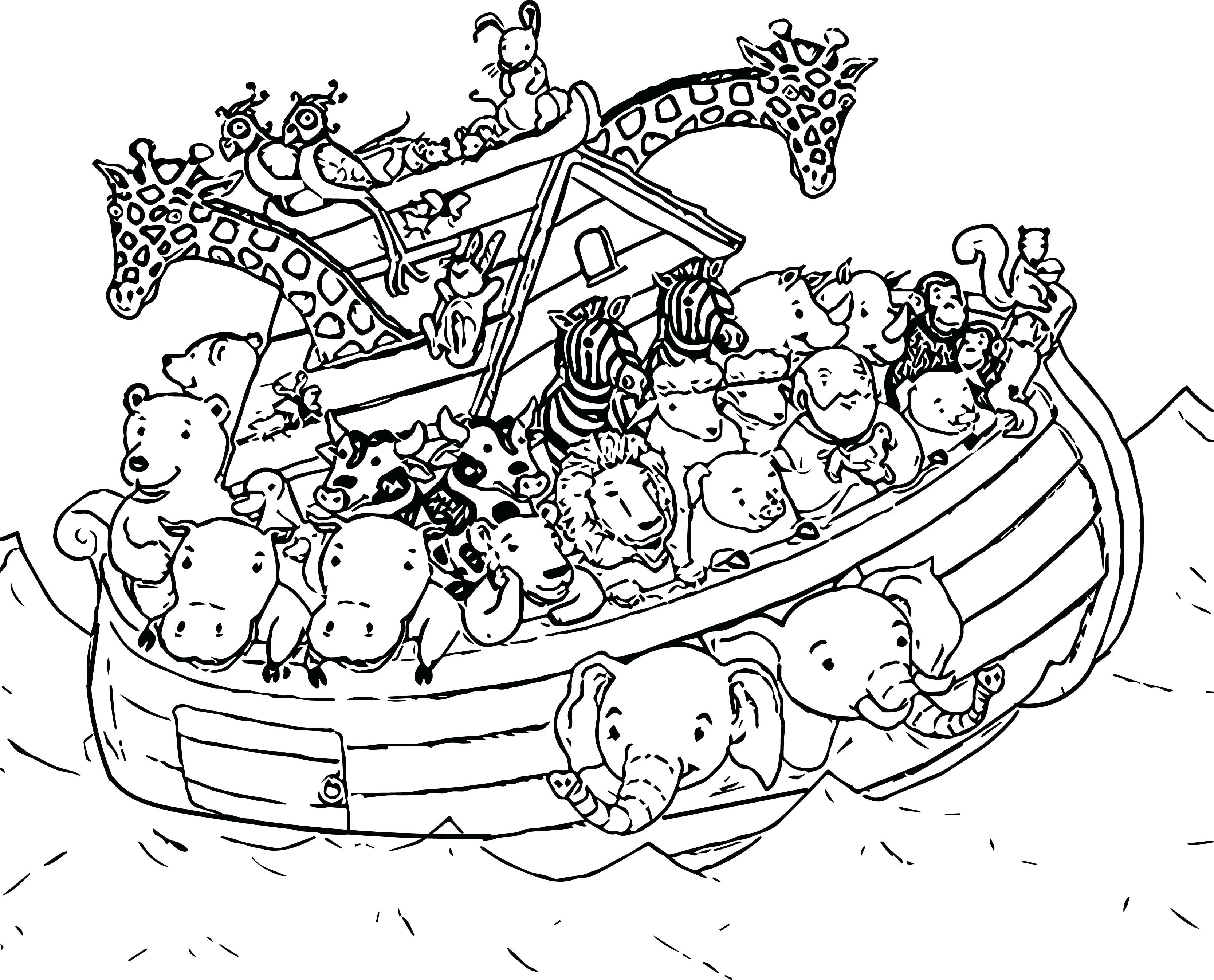 Noahs Ark Coloring Page Coloring Pages | Animal coloring ...