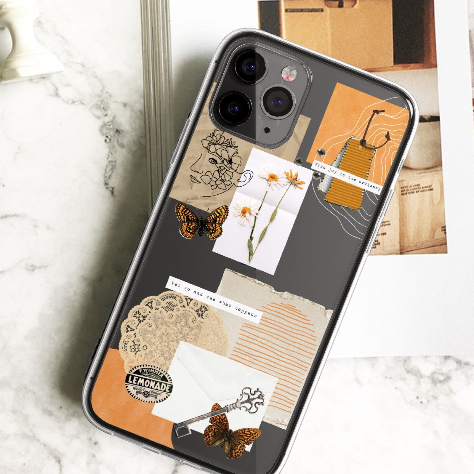 Abstract scraps collage case for 12 mini iphone 11 pro max