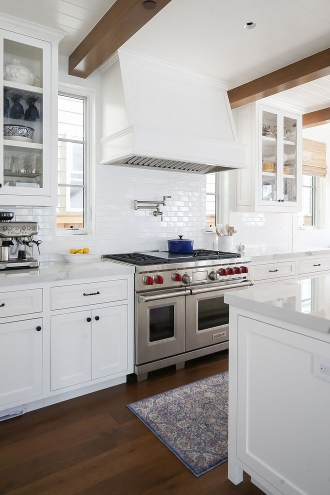 Benjamin Moore OC-117 Simply White kitchen cabinets with ...