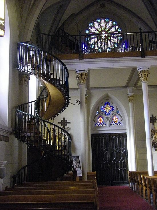 Best Loretto Chapel Mysterious Staircase Side View Legend Says 640 x 480