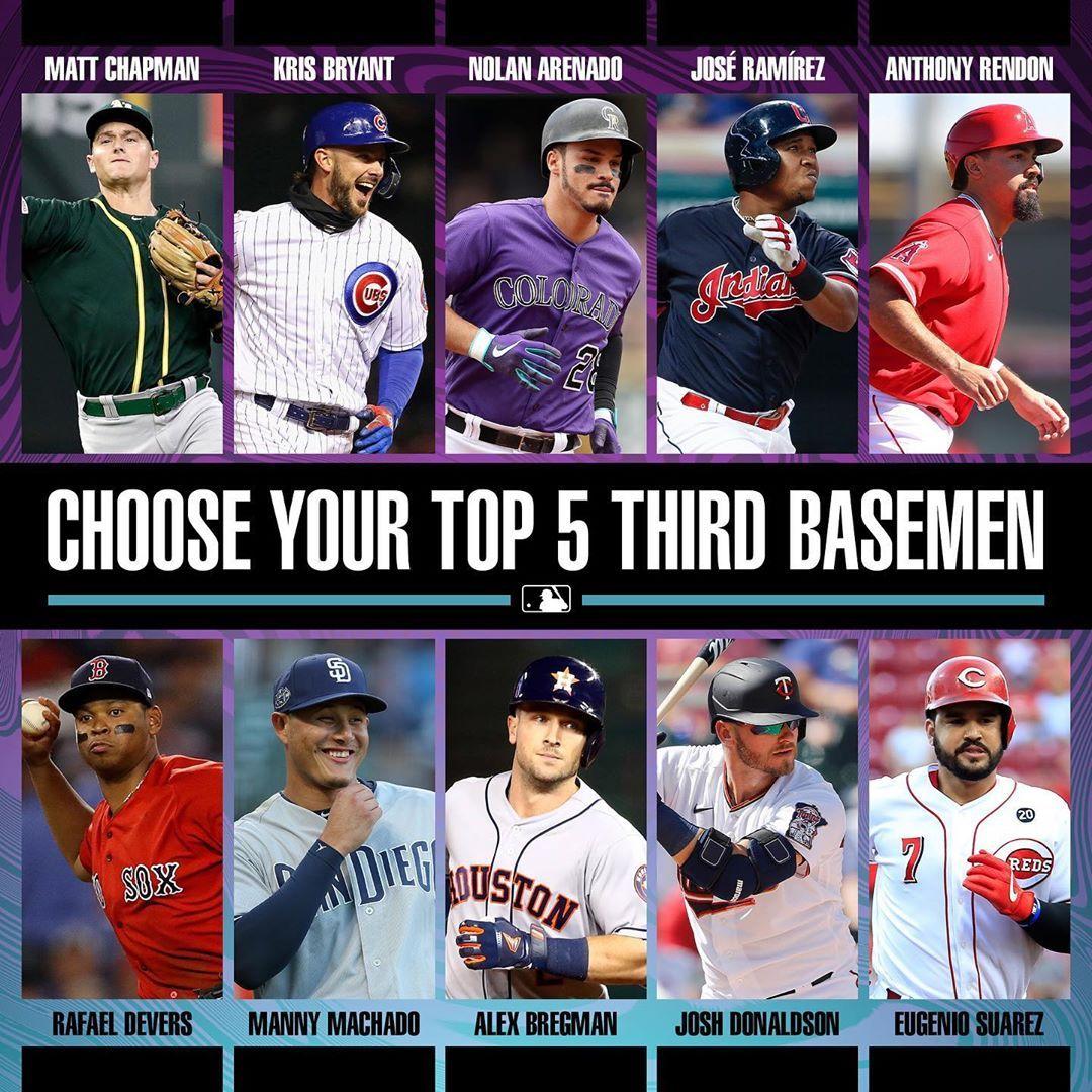 Mlb On Instagram Pick Your Hot Corner In 2020 Mlb Baseball Players Baseball