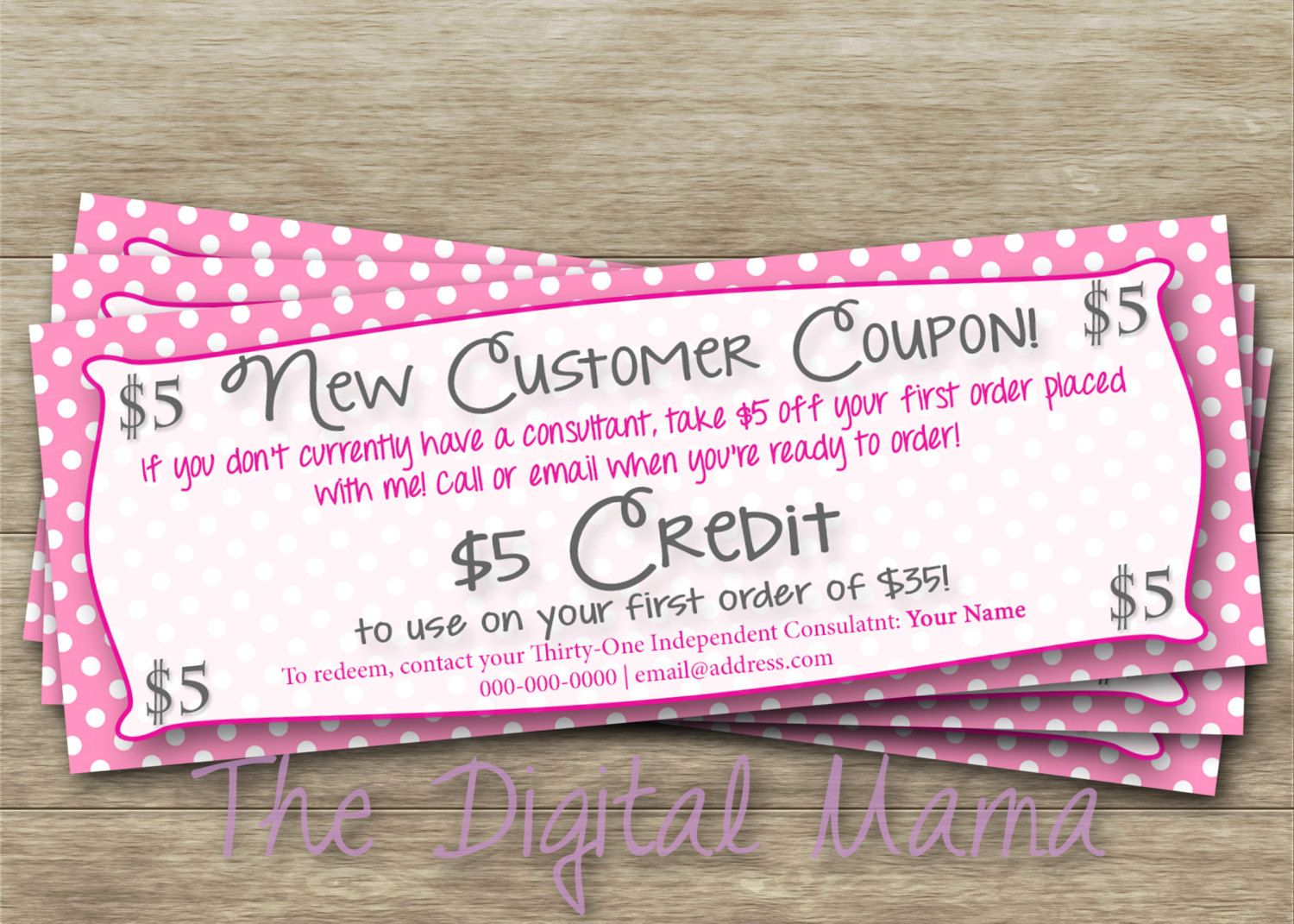 Direct Sales Consultant - First Time Customer Coupon -5386