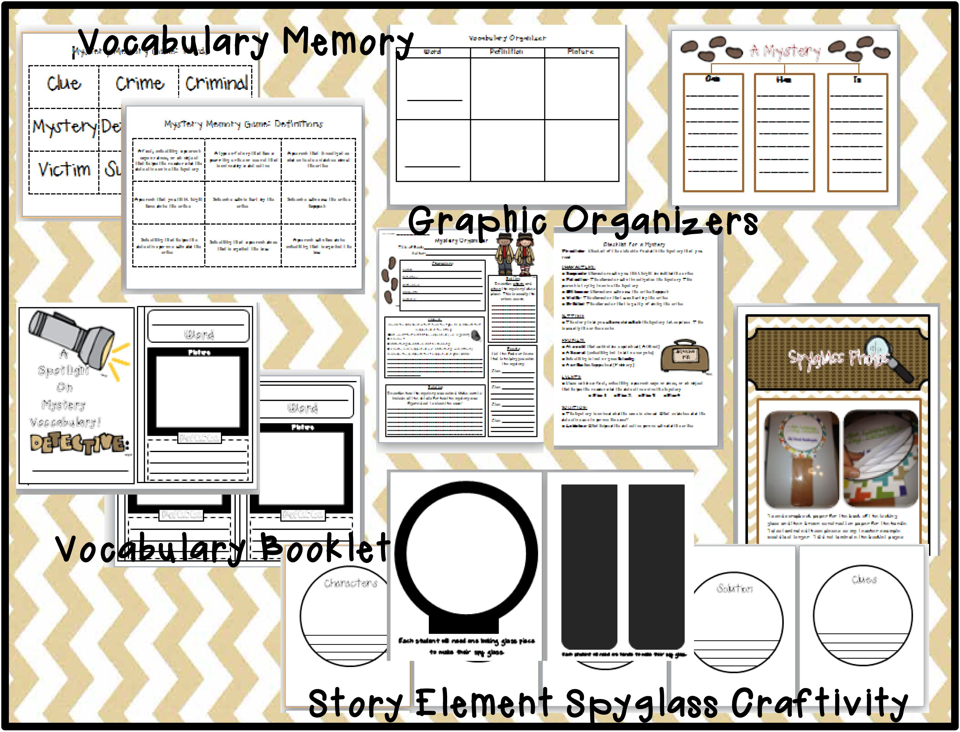 Mystery Unit Preview 2 Graphic Organizers For Mystery