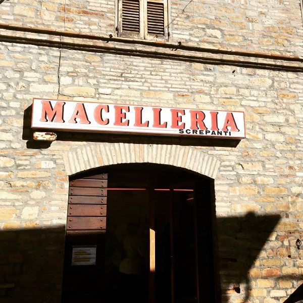 It rhymes with Magalleria.  From my brother in Italy #macelleria #montelparo #lemarche