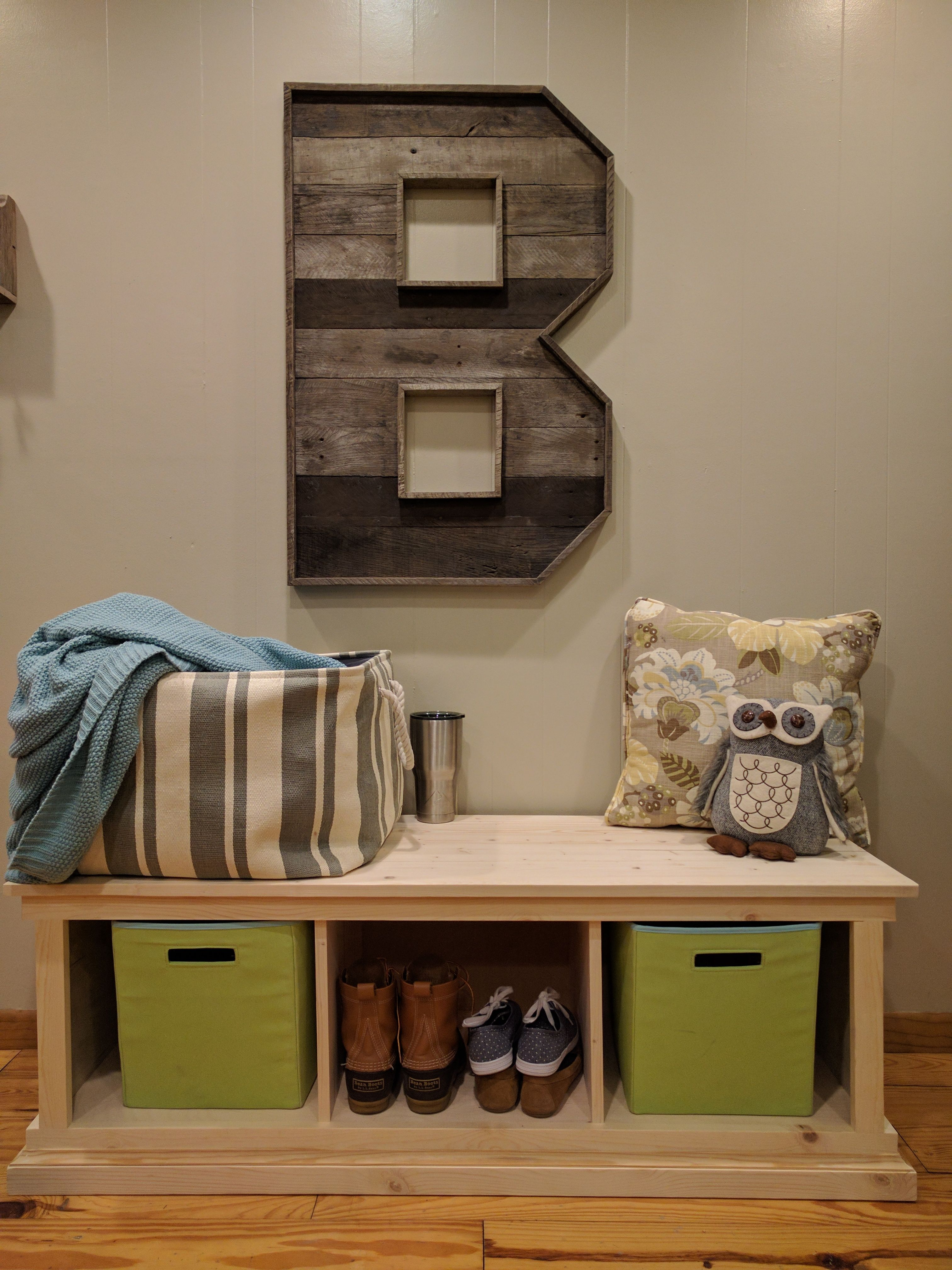 Hallway storage next  Entryway Bench DIY  Farmhouse Style  Pinterest  Entryway bench