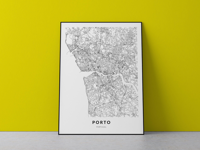 Porto Map Print Porto Wall Art Porto Portugal City Map Etsy Map Print City Map Poster Map Poster