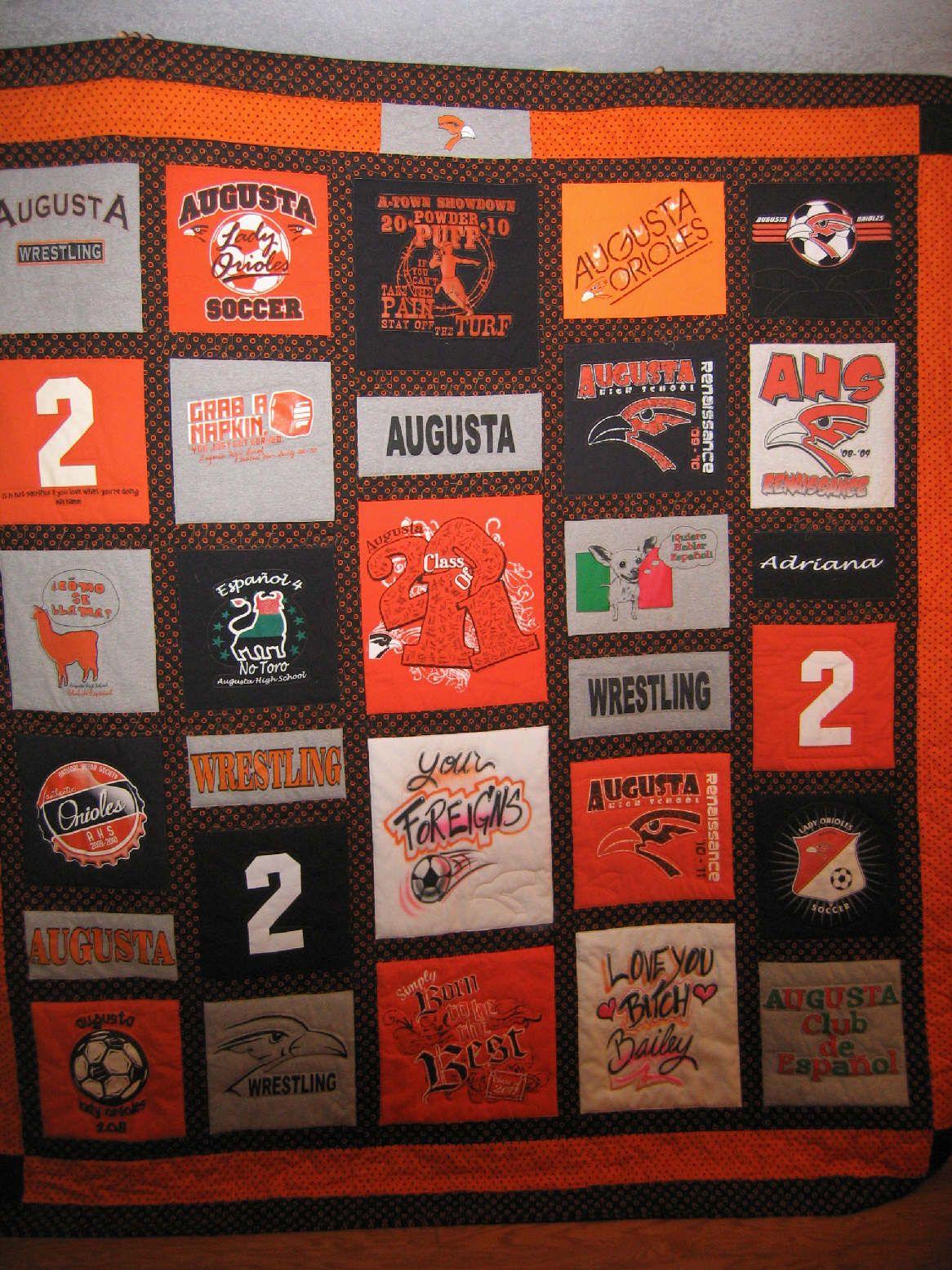 High school T-shirt quilt | T-Shirt Quilts/Memory Quilts ...