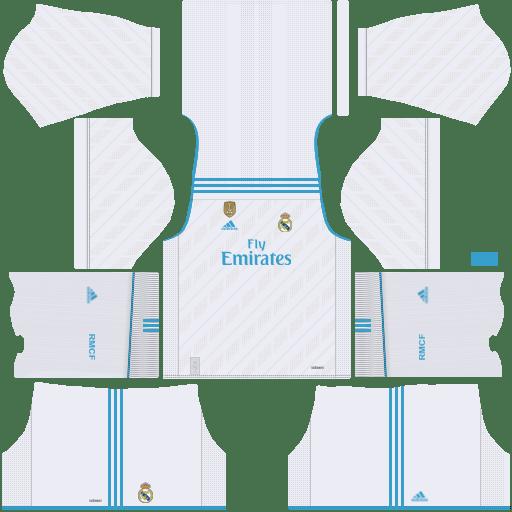 Real Madrid Home Kit 2017 2018 Dls Real Madrid Kit Real Madrid Home Kit Real Madrid Third Kit