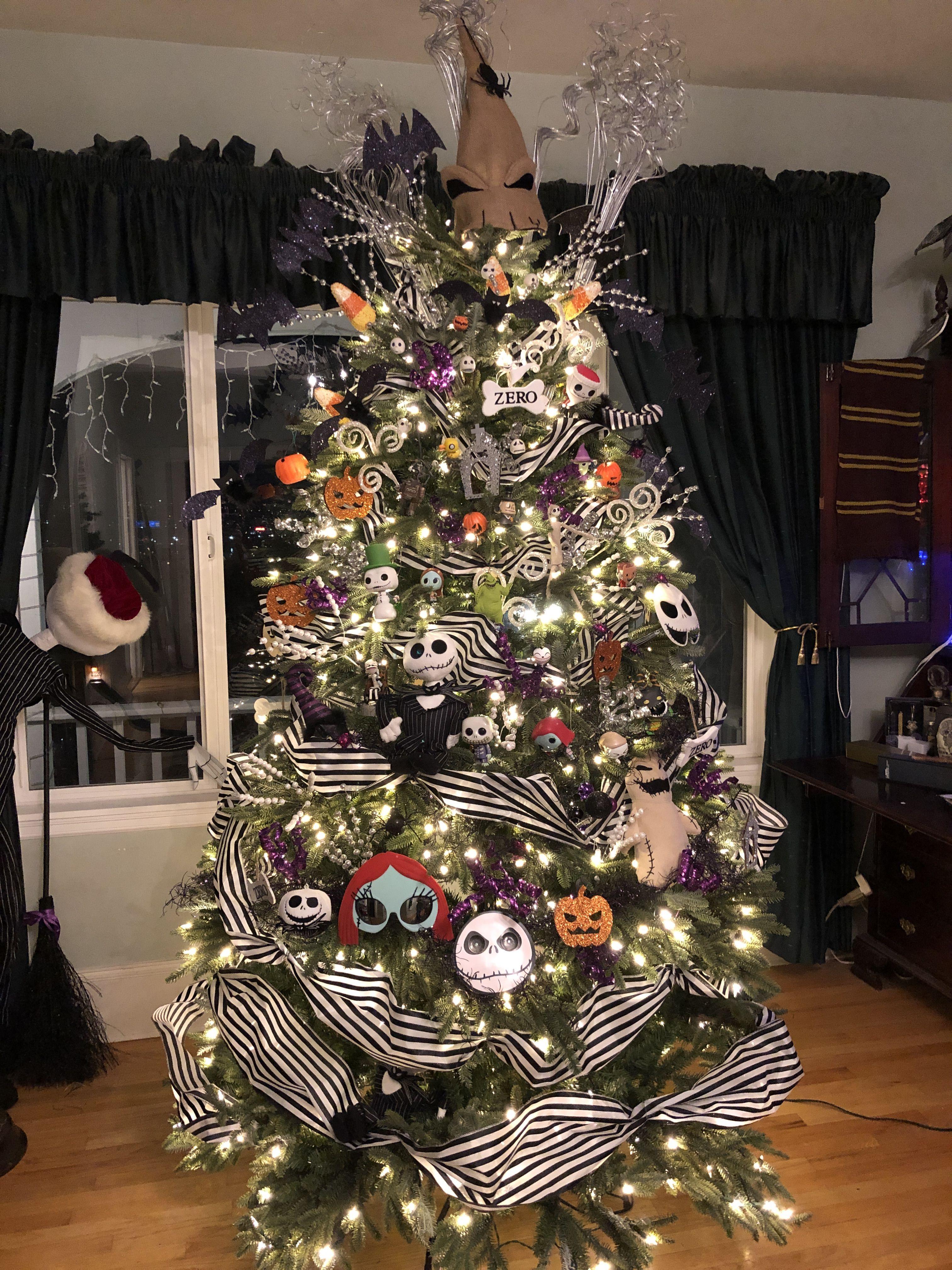 Our Nightmare Before Christmas Tree Nightmare Before Christmas Decorations Nightmare Before Christmas Ornaments Halloween Christmas Tree