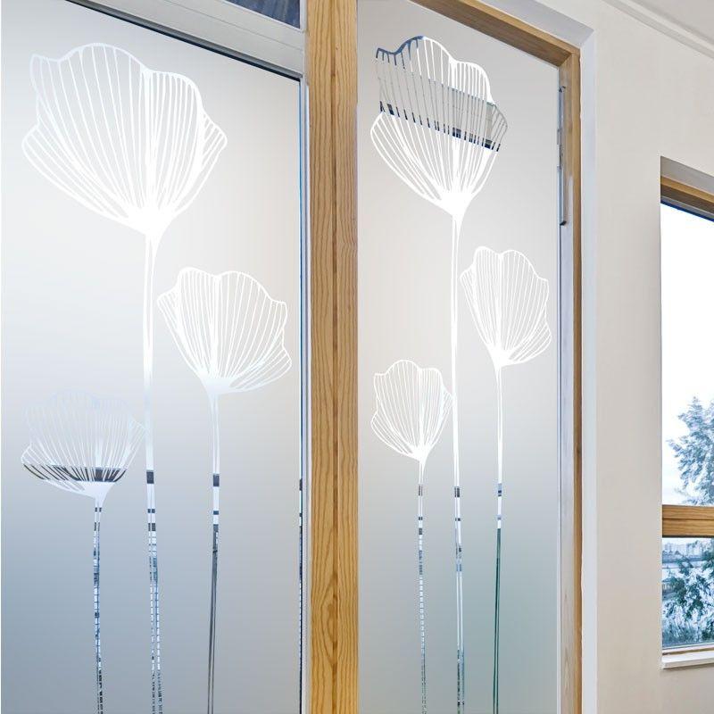 Sticker fenêtre et baie vitrée Coquelicot Baie vitrée Pinterest