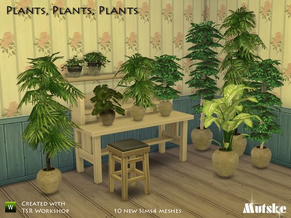 Plants by mutske at TSR via Sims 4 Updates
