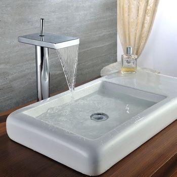 Star Bathroom Vessel Sink Waterfall Faucet - US$109.99 : Homary ...