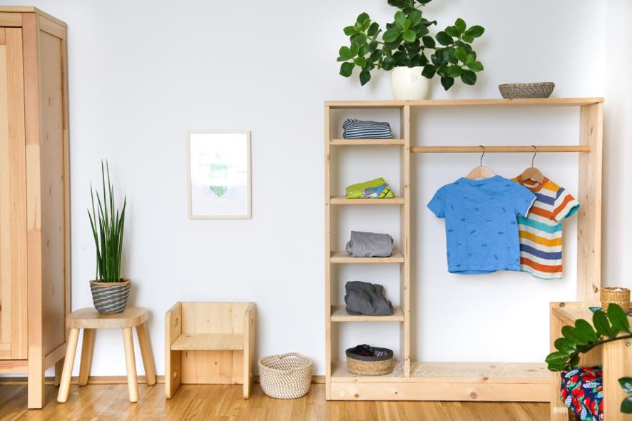 7 einfache KleiderschrankIdeen für das Montessori