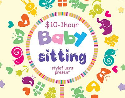 Check out new work \ - babysitting pamphlets