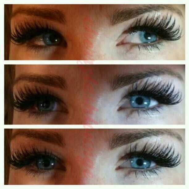 Super Full Dark Thick Eyelash Extensions Done By Kaye At Cherry Lash